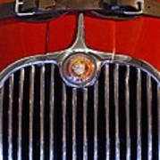 1958 Jaguar Xk150 Roadster Grille Emblem Art Print by Jill Reger