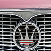 1958 Maserati Hood Emblem Art Print