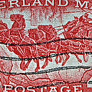 1958 Overland Mail Stamp Art Print