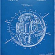1958 Space Satellite Structure Patent Blueprint Art Print