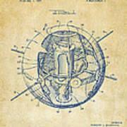 1958 Space Satellite Structure Patent Vintage Art Print