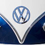 1958 Volkswagen Vw Bus Hood Emblem Art Print