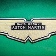 1959 Aston Martin Db4 Gt Hood Emblem -0127c Art Print