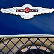 1959 Aston Martin Jaguar C-type Roadster Hood Emblem Art Print