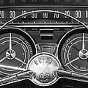 1959 Buick Lasabre Steering Wheel Art Print by Jill Reger
