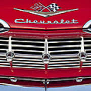 1959 Chevrolet Grille Ornament Art Print by Jill Reger