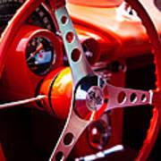 1959 Chevy Corvette Steering Wheel Art Print