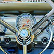 1959 Ford Thunderbird Convertible Steering Wheel Art Print