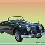 1959 Jaguar 150 S S Drop Head Coupe Art Print