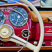 1959 Mercedes-benz 190 Sl Steering Wheel Art Print