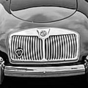 1959 Mg A 1600 Roadster Front End -0055bw Art Print