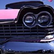 1959 Pink Plymouth Fury With Balloon Art Print