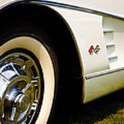 1959 White Chevy Corvette Art Print