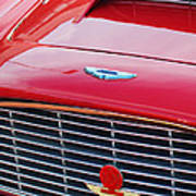 1960 Aston Martin Db4 Grille Emblem Art Print