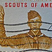 1960 Boy Scouts Stamp Art Print