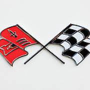 1960 Chevrolet Corvette Emblem Art Print