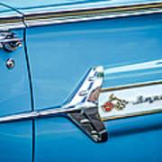1960 Chevrolet Impala Emblem -340c Art Print