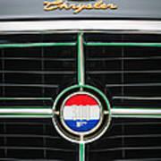 1960 Chrysler 300f Convertible Grille Emblem Art Print