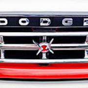 1960 Dodge Truck Grille Emblem Art Print
