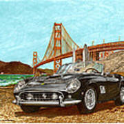 1960 Ferrari 250 California G T Art Print