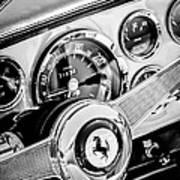 1960 Ferrari 250 Gt Cabriolet Pininfarina Series II Steering Wheel Emblem -1319bw Art Print