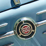 1960 Fiat 600 Jolly Emblem Art Print