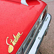 1960 Ford Galaxie Starliner Taillight Emblem Art Print