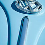 1960 Volkswagen Vw Hood Emblem Art Print