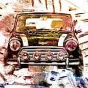 1960s Mini Cooper Art Print by David Ridley