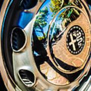 1961 Alfa Romeo Giulietta Sprint Speciale Wheel Emblem -0051c Art Print