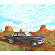 1961 Chevrolet Biscayne 409 In Monument Valley Art Print