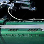 1961 Chevrolet Corvette Engine Art Print
