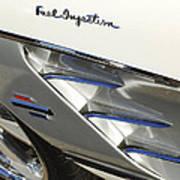1961 Chevrolet Corvette Side Emblem 3 Art Print