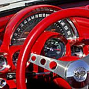 1961 Chevrolet Corvette Steering Wheel 2 Art Print