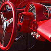 1961 Chevrolet Corvette Steering Wheel Art Print
