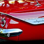 1961 Chevrolet Impala Taillight Emblem Art Print