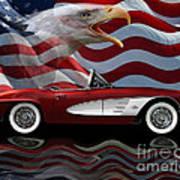 1961 Corvette Tribute Art Print