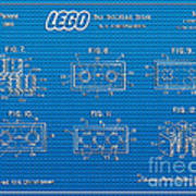 1961 Lego Building Blocks Patent Art 1 Art Print