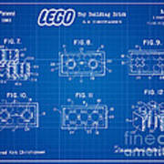 1961 Lego Building Blocks Patent Art 4 Art Print