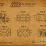 1961 Lego Building Blocks Patent Art 6 Art Print