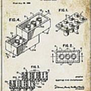 1961 Lego Patent Art Print