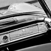 1961 Mercedes-benz 300 Sl Roadster Dashboard Emblem Art Print
