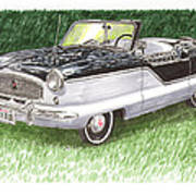 1961 Nash Metro Convertible Art Print