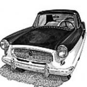 1961 Nash Metro In Black White Art Print