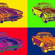 1962 Chevrolet Corvette Pop Art Art Print