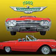 1962 Ford T-bird Sport Art Print