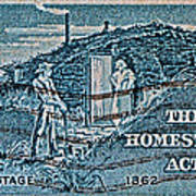 1962 Homestead Act Stamp Art Print