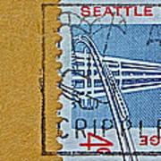 1962 Seattle World's Fair Stamp Art Print