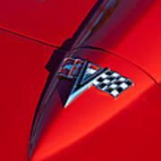1963 Chevrolet Corvette Hood Emblem Art Print