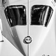 1963 Chevrolet Corvette Split Window -386bw Art Print